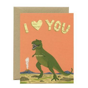 Yeppie Paper Greeting Card - T-rex Love You This Much