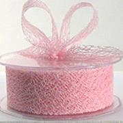 Ribbon: 38mm Open Mesh - Pale Pink (per metre)