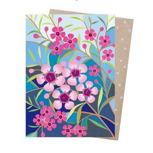 Claire Ishino Greeting Card - Geraldton Wax