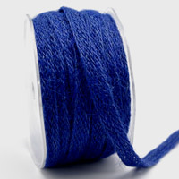 Ribbon: 10mm Jute Tape - Blue (per metre)