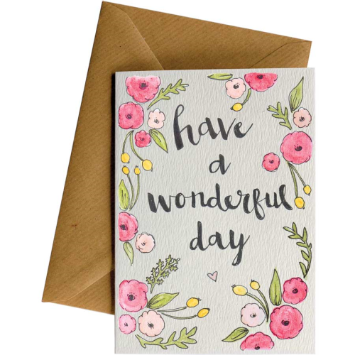 Little Difference Greeting Card - Wonderful Day