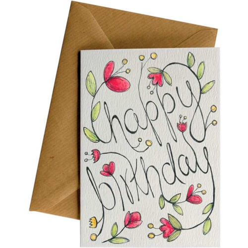 Little Difference Greeting Card - Happy Birthday Flowers