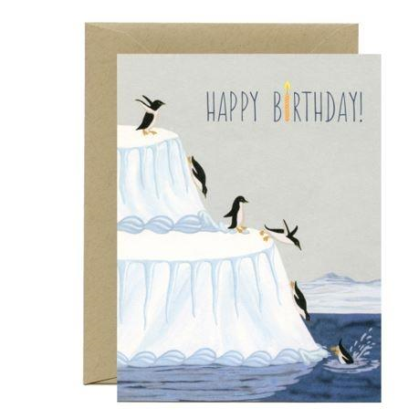 Yeppie Paper Greeting Card - Penguin Birthday