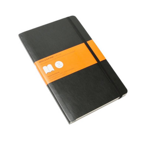 Moleskine Soft Cover Notebook - Ruled, Large, Black | Moleskine | Paperpoint Stationery South Melbourne
