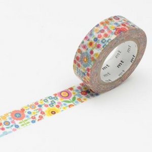 MT Tape Single Roll - Flowers Garden | MT | Paperpoint Stationery South Melbourne