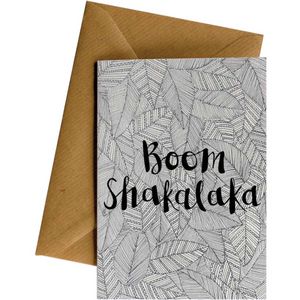 Little Difference Greeting Card - Pattern Boom Shakalaka