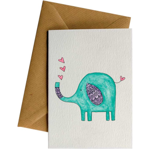Little Difference Greeting Card - Elephant Heart