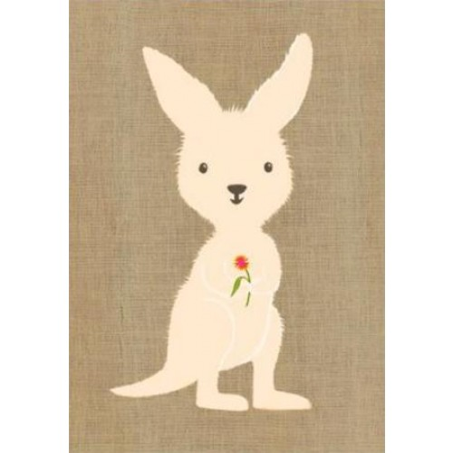 Gillian Mary Greeting Card - Super Cute Kangaroo | Gillian Mary | Paperpoint Stationery South Melbourne