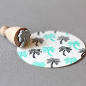 Perlenfischer Large Cone Stamp - Palm Tree | Perlenfischer | Paperpoint Stationery South Melbourne