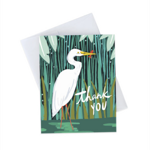 Idlewild Greeting Card - Egret Thank You