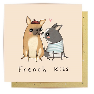 La La Land Greeting Card - French Kiss