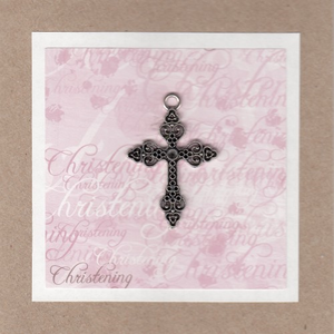 Lissie Lou Greeting Card - Christening Girl