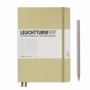 Leuchtturm1917 Notebook - Ruled, A5, Sand | Leuchtturm1917 | Paperpoint Stationery South Melbourne