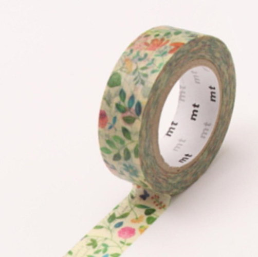MT Tape Single Wide Roll - Watercolor Flowers | MT | Paperpoint Stationery South Melbourne