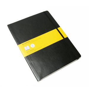 Moleskine Soft Cover Notebook - Squared, Extra Large, Black | Moleskine | Paperpoint Stationery South Melbourne