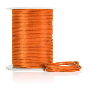 Cord:  2mm China Knot - Orange (per metre)