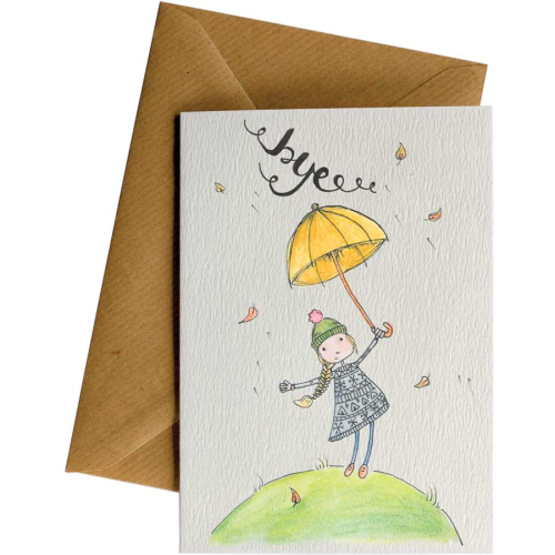 Little Difference Greeting Card - Windy Bye