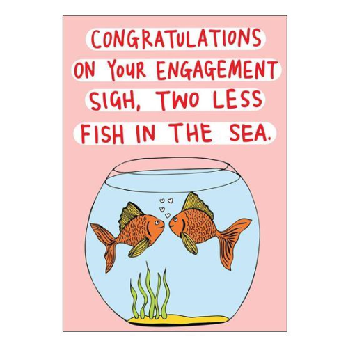 Able & Game Greeting Card - Sigh, Two Less Fish | Able & Game | Paperpoint Stationery South Melbourne