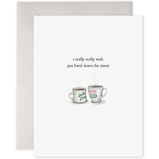 E Frances Greeting Card - Coffee Cups | E Frances | Paperpoint Stationery South Melbourne