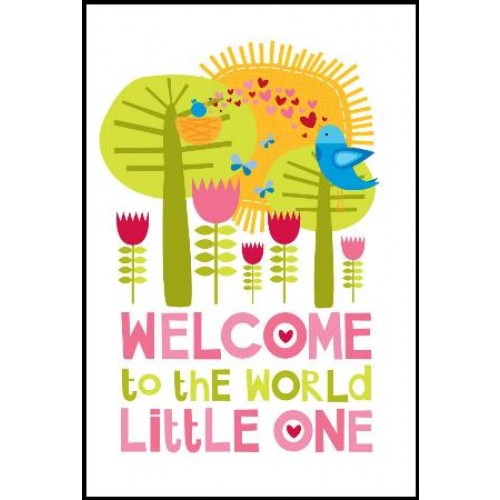 Little Red Owl Gift Card - Welcome Girl | Little Red Owl | Paperpoint Stationery South Melbourne