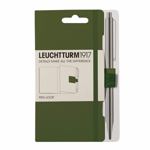 Leuchtturm1917 Pen Loop (Elastic Pen Holder) - Army Green | Leuchtturm1917 | Paperpoint Stationery South Melbourne