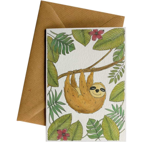 Little Difference Greeting Card - Slothy