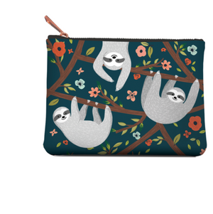Studio Oh! Zippered Pouch - Medium, Sloth Life