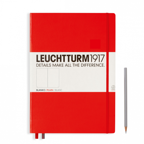 Leuchtturm1917 Notebook - Plain, A4+, Red | Leuchtturm1917 | Paperpoint Stationery South Melbourne