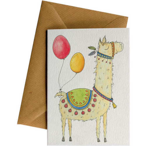 Little Difference Greeting Card - Llama