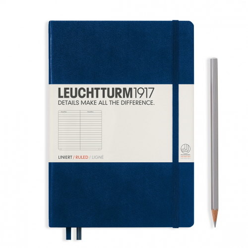 Leuchtturm1917 Notebook - Ruled, A5, Navy | Leuchtturm1917 | Paperpoint Stationery South Melbourne