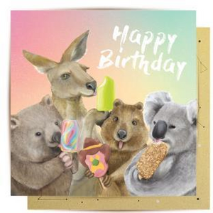 La La Land Greeting Card - Ice Cream Critters