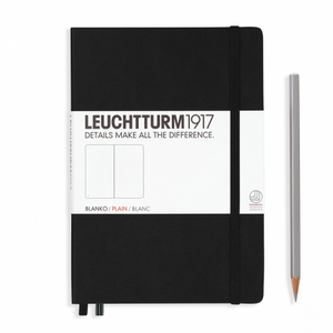 Leuchtturm1917 Notebook - Plain, A5, Black | Leuchtturm1917 | Paperpoint Stationery South Melbourne
