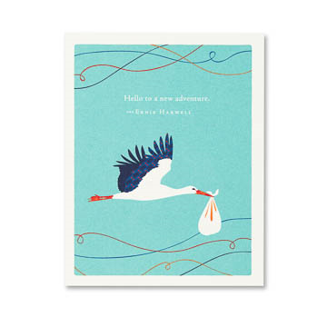 PG Card - Hello To A New Adventure... | Positively Green | Paperpoint Stationery South Melbourne