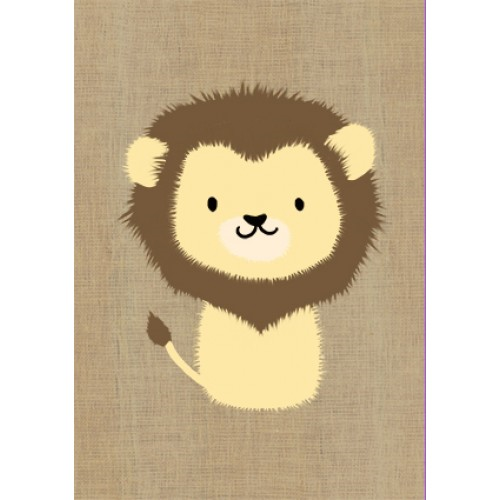 Gillian Mary Greeting Card - Super Cute Lion | Gillian Mary | Paperpoint Stationery South Melbourne