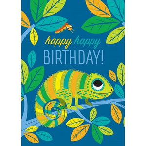 Little Red Owl Greeting Card - Chameleon Birthday | Little Red Owl | Paperpoint Stationery South Melbourne