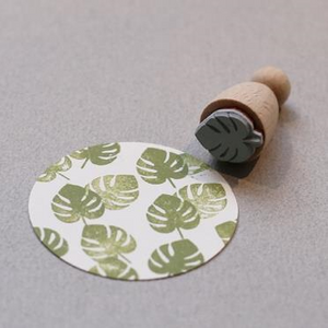 Perlenfischer Cone Stamp - Monstera Leaf Small | Perlenfischer | Paperpoint Stationery South Melbourne