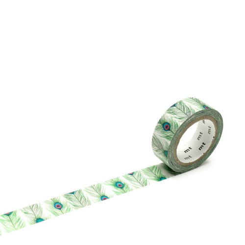 MT Tape Single Roll - Peacock Feathers