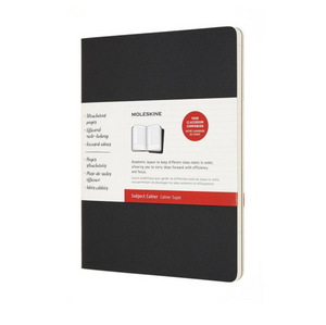 Moleskine Cahier Subject Journal - Extra Large, Black & Kraft