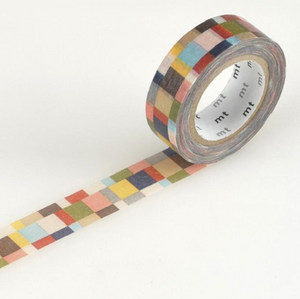 MT Tape Single Roll - Mosaic Greyish | MT | Paperpoint Stationery South Melbourne