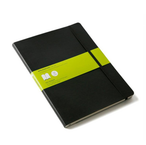 Moleskine Soft Cover Notebook - Plain, Extra Large, Black | Moleskine | Paperpoint Stationery South Melbourne