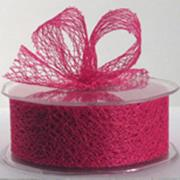 Ribbon: 38mm Open Mesh - Hot Pink (per metre)