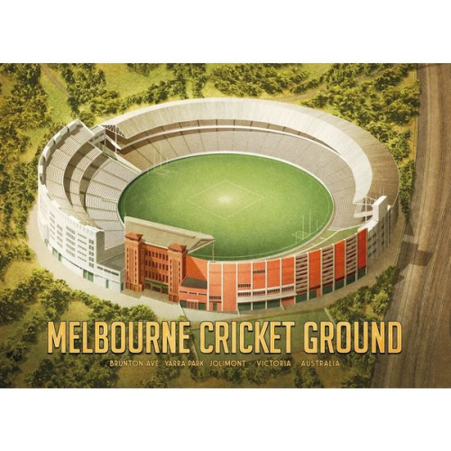 Harper & Charlie Postcard - Melbourne Cricket Ground / Football