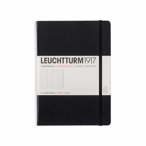 Leuchtturm1917 Address Book - A5, Black | Leuchtturm1917 | Paperpoint Stationery South Melbourne