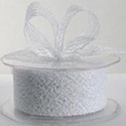 Ribbon: 38mm Open Mesh - White (per metre)