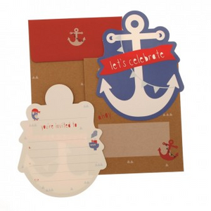 hiPP Invitation Set - Anchors Away | HiPP | Paperpoint Stationery South Melbourne