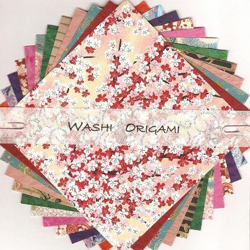 Origami Paper Pack - Yuzen/Plain Mix, 150mm Square | Washi Craft | Paperpoint Stationery South Melbourne