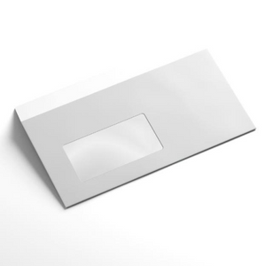 DL Envelope (110 x 220mm) - Splendorgel Window Faced, Pack of 20