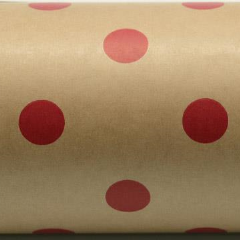 Wrap Band - Red Spots on Kraft (9 cm x 3 mtrs)