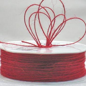 Jute Cord - Red (1mm x 100mtr)