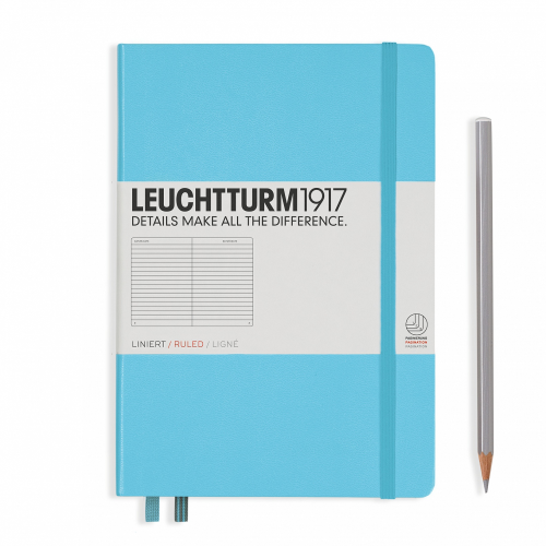 Leuchtturm1917 Notebook - Ruled, A5, Ice Blue | Leuchtturm1917 | Paperpoint Stationery South Melbourne